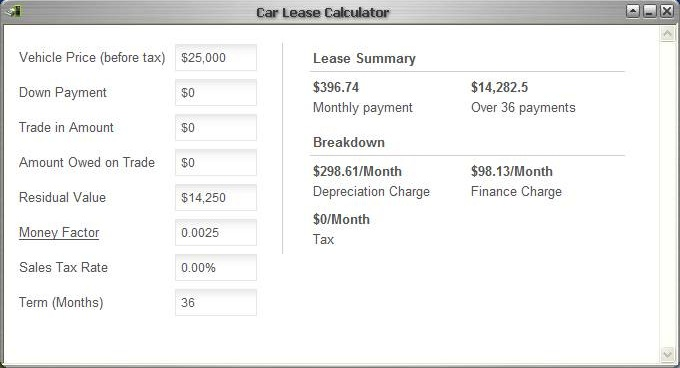 CLC Car Lease Calculator 10 free download Calculate approximate – Lease Payment Calculator